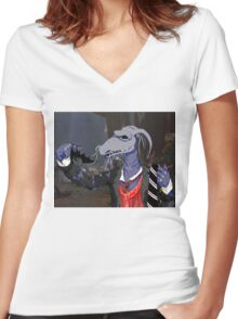 Uncle Deadly Women's Fitted V-Neck T-Shirt