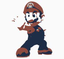 Minimalist Mario from Super Smash Bros. Brawl Kids Clothes