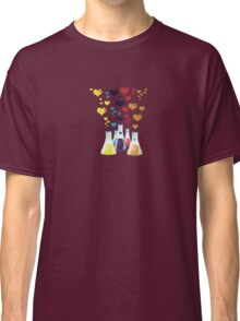 Chemistry Flask, Hearts - Red Blue Yellow Purple Classic T-Shirt