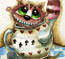 The Cheshire Cat - snuggly teapot by StressieCat