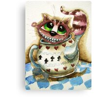 The Cheshire Cat - snuggly teapot Canvas Print