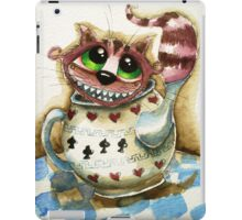 The Cheshire Cat - snuggly teapot iPad Case/Skin
