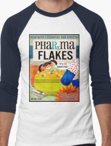 Big Pharma Flakes Breakfast Cereal Men's Baseball ¾ T-Shirt