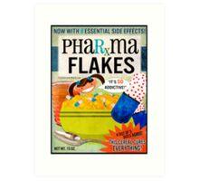Big Pharma Flakes Breakfast Cereal Art Print