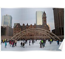 Skating At Nathan Phillips Square Poster