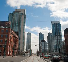 Looking Down Spadina From Wellington by Gary Chapple