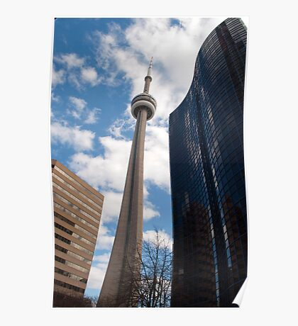 The CN Tower Tipping To The Right Poster