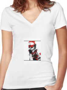 Ash Ketchum Women's Fitted V-Neck T-Shirt