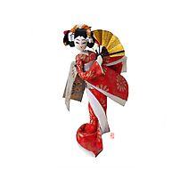 芸者 Geisha Doll Photographic Print