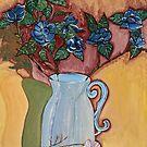 Blue Roses in a Vase by Nira Dabush