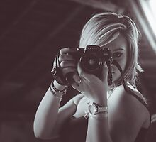 Mathilde & The Leica (#1) by Thierry Vincent