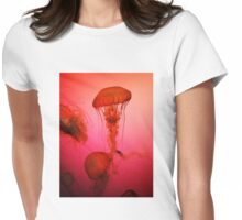 Portrait of a Jellyfish- Pink Womens Fitted T-Shirt