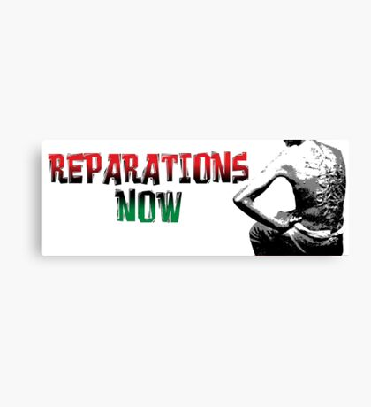 REPARATIONS NOW/ SLAVE BACK PRINTS, CARDS & POSTERS. Canvas Print
