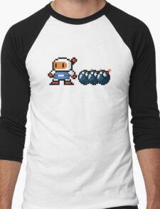 Bomberman pixel Men's Baseball ¾ T-Shirt