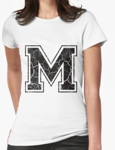 M - the Letter Womens Fitted T-Shirt