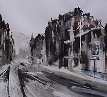 Morningside Road, Winter by Ross Macintyre