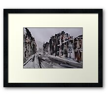 Morningside Road, Winter Framed Print