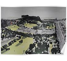 Edinburgh Castle and Princes Street Poster