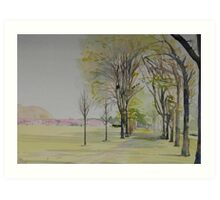Edinburgh Meadows Art Print