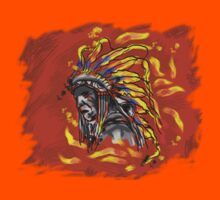 Native chief T shirt and stickers by JiaSen