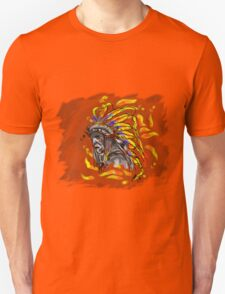 Native chief T shirt and stickers T-Shirt