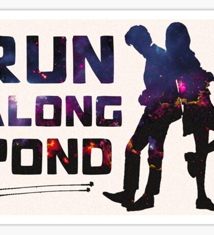Run Along Pond Sticker