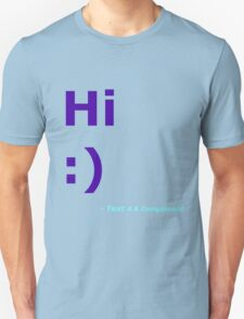 Hi :) (Blue) Unisex T-Shirt