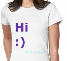 Hi :) (Blue) Womens Fitted T-Shirt