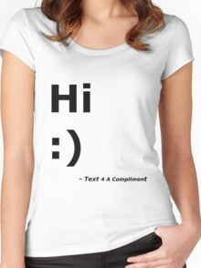Hi :) (Black) Women's Fitted Scoop T-Shirt