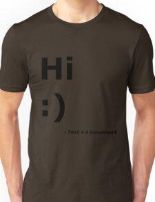 Hi :) (Black) Unisex T-Shirt