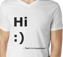 Hi :) (Black) Mens V-Neck T-Shirt