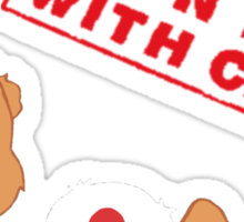 Handle With Carebear Sticker