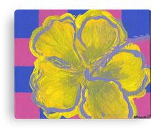 The Flower Popped Canvas Print