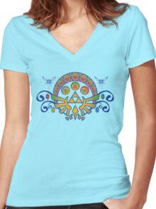 Zelda Nouveau Women's Fitted V-Neck T-Shirt