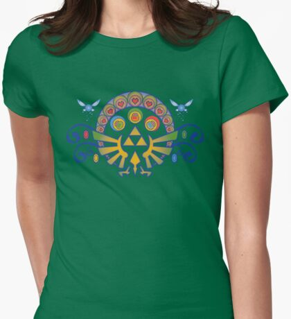 Zelda Nouveau Womens Fitted T-Shirt