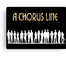 A Chorus Line Poster Canvas Print