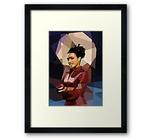 Martha fragged Framed Print
