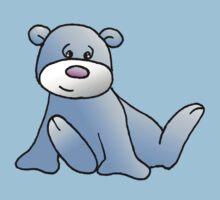 Blue Teddy bear Baby Tee