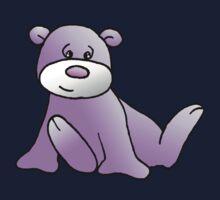 Magenta Teddy Bear Kids Tee