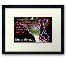 Courage After 911 Framed Print