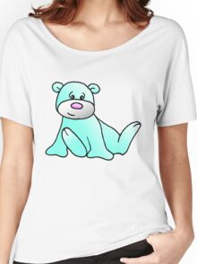 Turquoise Teddy Bear Women's Relaxed Fit T-Shirt