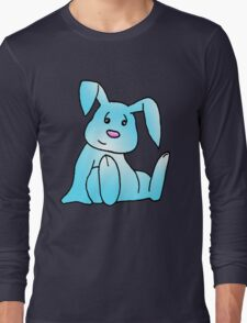 Turquoise Bunny Rabbit Long Sleeve T-Shirt