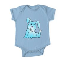 Turquoise Bunny Rabbit One Piece - Short Sleeve
