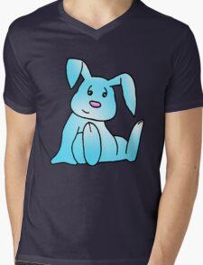 Turquoise Bunny Rabbit Mens V-Neck T-Shirt