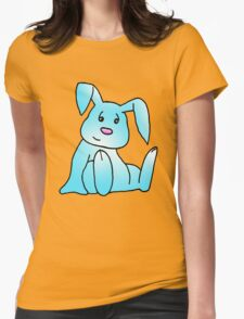 Turquoise Bunny Rabbit Womens Fitted T-Shirt