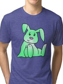 Green Bunny Rabbit Tri-blend T-Shirt