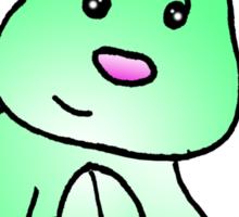 Green Bunny Rabbit Sticker