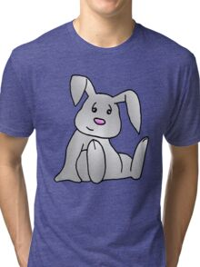 White Bunny Rabbit Tri-blend T-Shirt