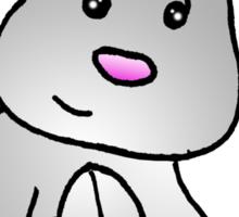 White Bunny Rabbit Sticker