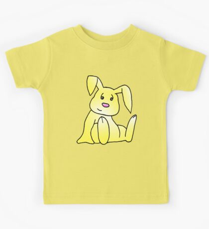 Yellow Bunny Rabbit Kids Tee